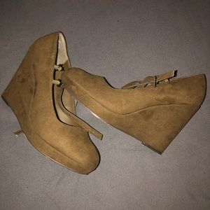 Olive green Torid wedges